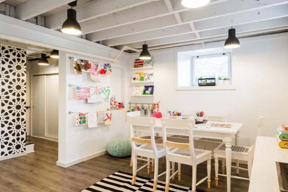 Adorable Basement Remodel Ideas For Upgrading Your Room Design 24