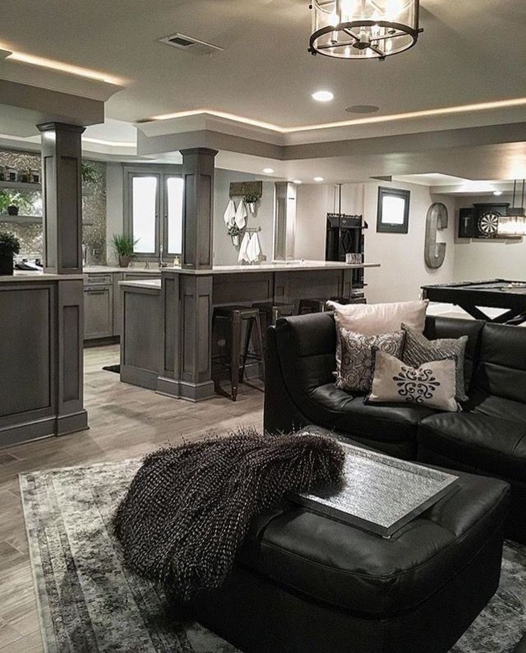 Adorable Basement Remodel Ideas For Upgrading Your Room Design 25