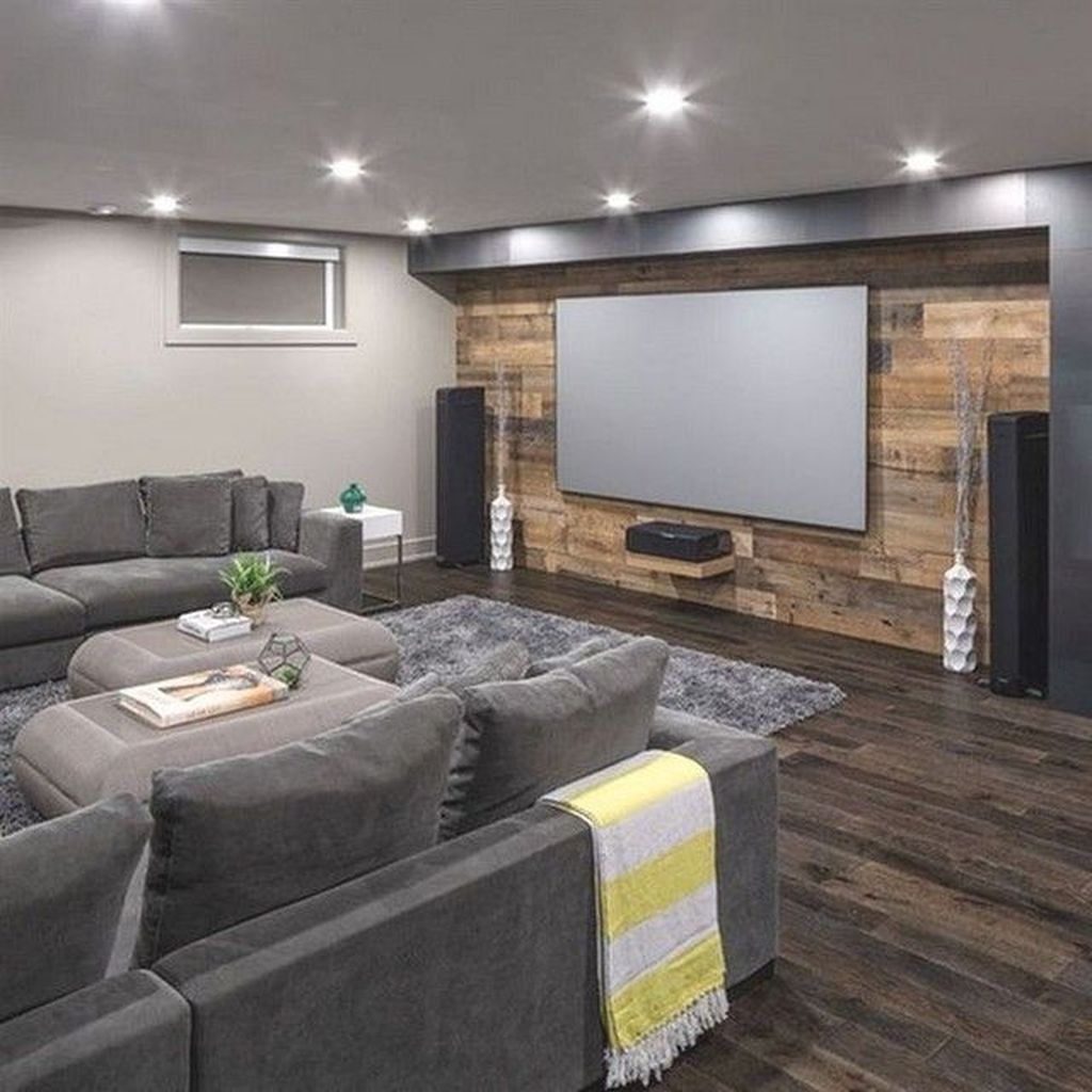 Adorable Basement Remodel Ideas For Upgrading Your Room Design 26