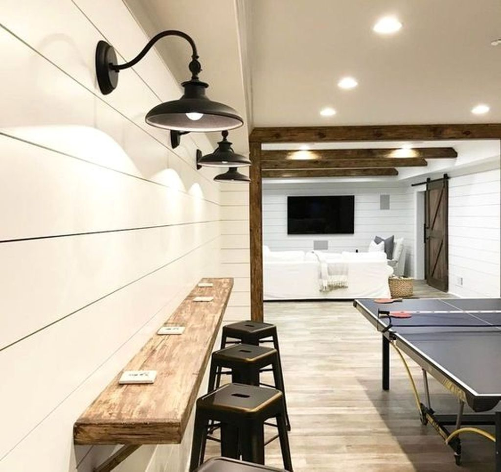 Adorable Basement Remodel Ideas For Upgrading Your Room Design 28
