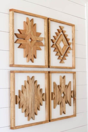 Affordable Geometric Wood Wall Art Design Ideas For Your Inspiration 18