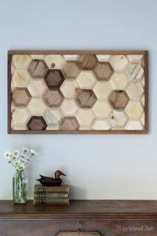 Affordable Geometric Wood Wall Art Design Ideas For Your Inspiration 28