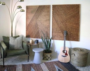 Affordable Geometric Wood Wall Art Design Ideas For Your Inspiration 31