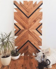 Affordable Geometric Wood Wall Art Design Ideas For Your Inspiration 33