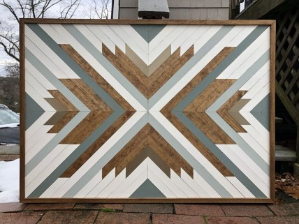 Affordable Geometric Wood Wall Art Design Ideas For Your Inspiration 37