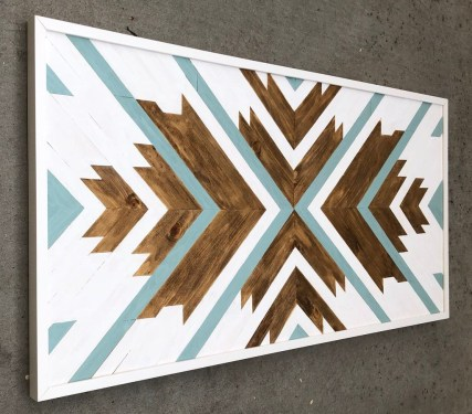 Affordable Geometric Wood Wall Art Design Ideas For Your Inspiration 41