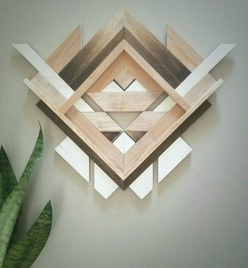 Affordable Geometric Wood Wall Art Design Ideas For Your Inspiration 45