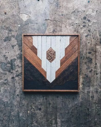 Affordable Geometric Wood Wall Art Design Ideas For Your Inspiration 55