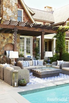 Awesome Backyard Patio Ideas With Beautiful Pool 06