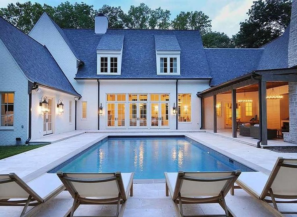 Awesome Backyard Patio Ideas With Beautiful Pool 08