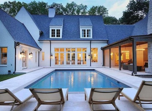 Awesome Backyard Patio Ideas With Beautiful Pool 08