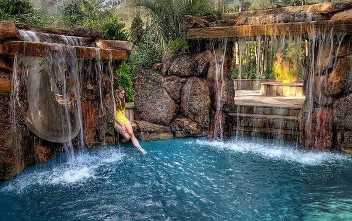 Awesome Backyard Patio Ideas With Beautiful Pool 09