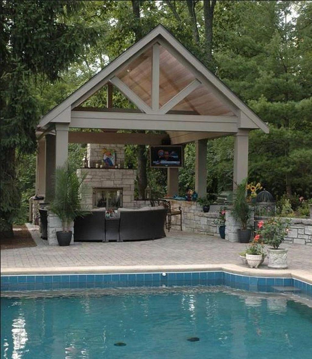 Awesome Backyard Patio Ideas With Beautiful Pool 10