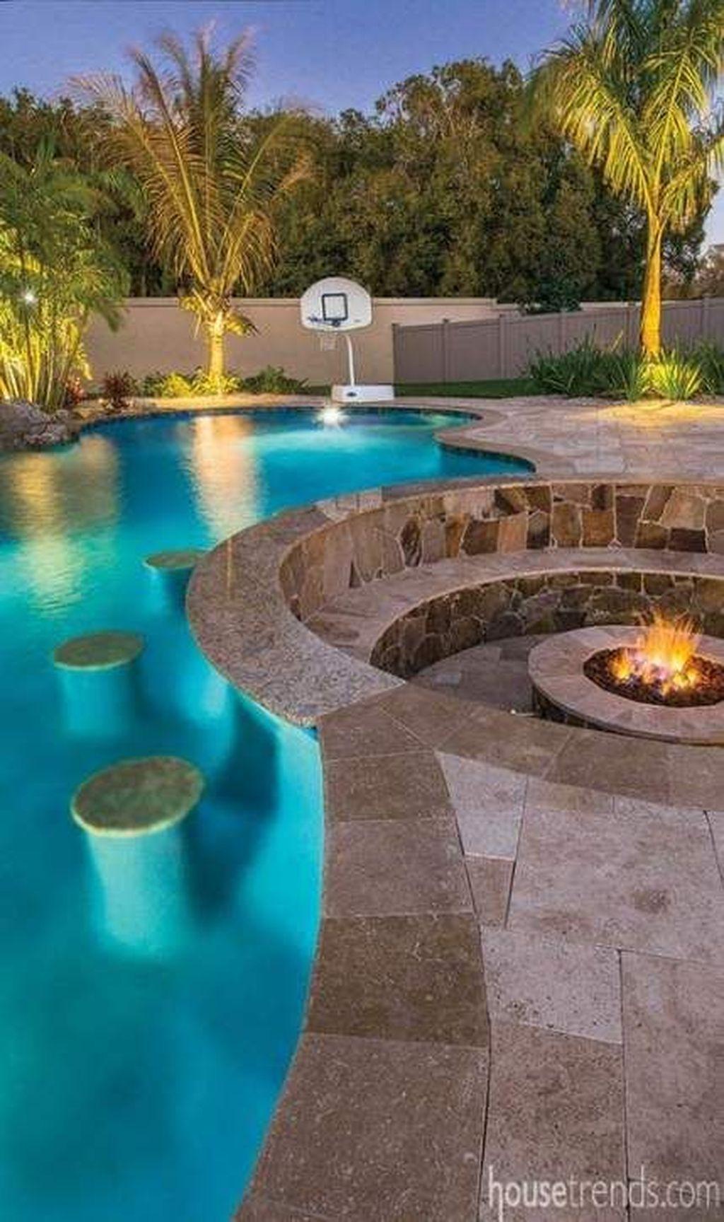 Awesome Backyard Patio Ideas With Beautiful Pool 21