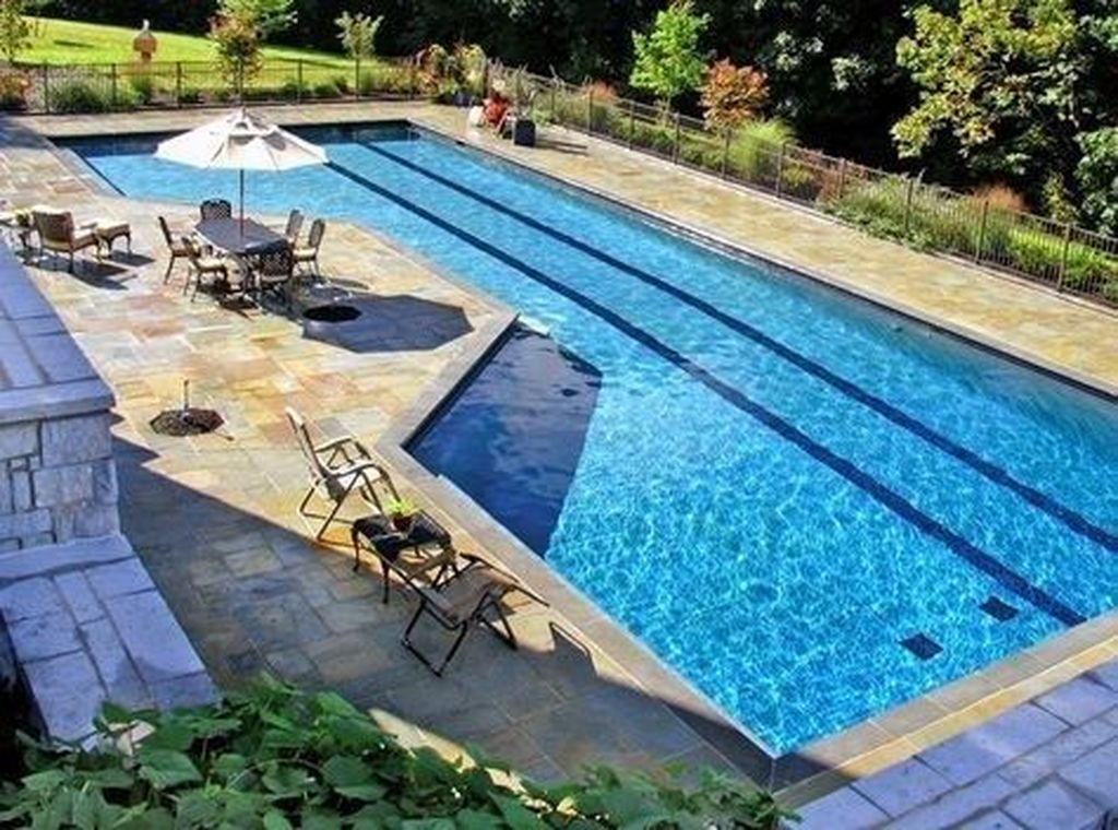 Awesome Backyard Patio Ideas With Beautiful Pool 23