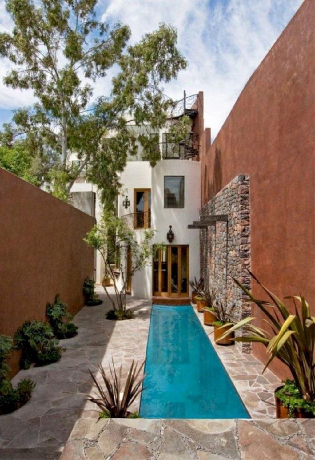 Awesome Backyard Patio Ideas With Beautiful Pool 30