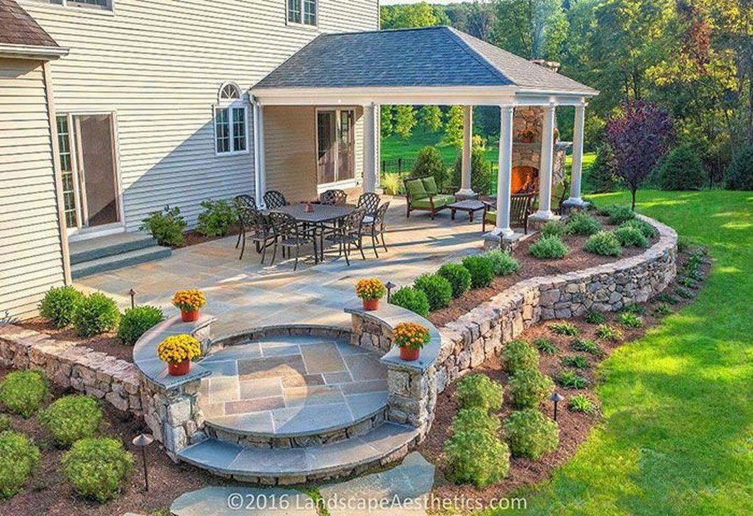 Awesome Backyard Patio Ideas With Beautiful Pool 35