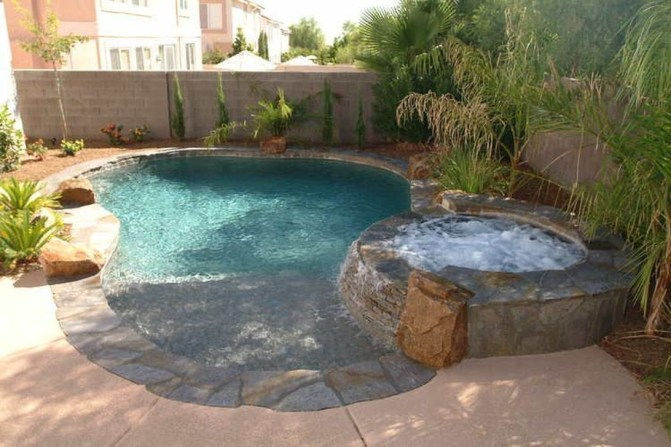 Awesome Backyard Patio Ideas With Beautiful Pool 37