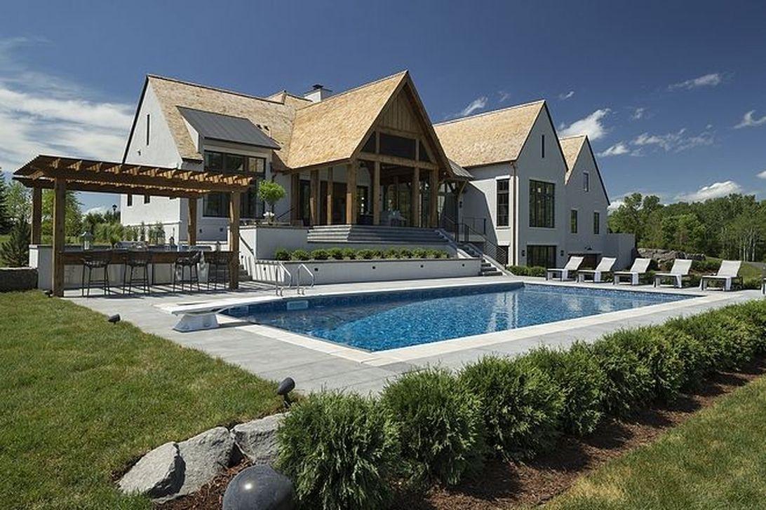Awesome Backyard Patio Ideas With Beautiful Pool 41
