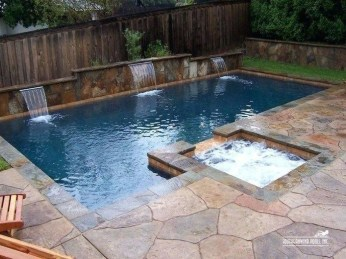 Awesome Backyard Patio Ideas With Beautiful Pool 42
