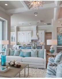 Best Coastal Living Room Decorating Ideas 52