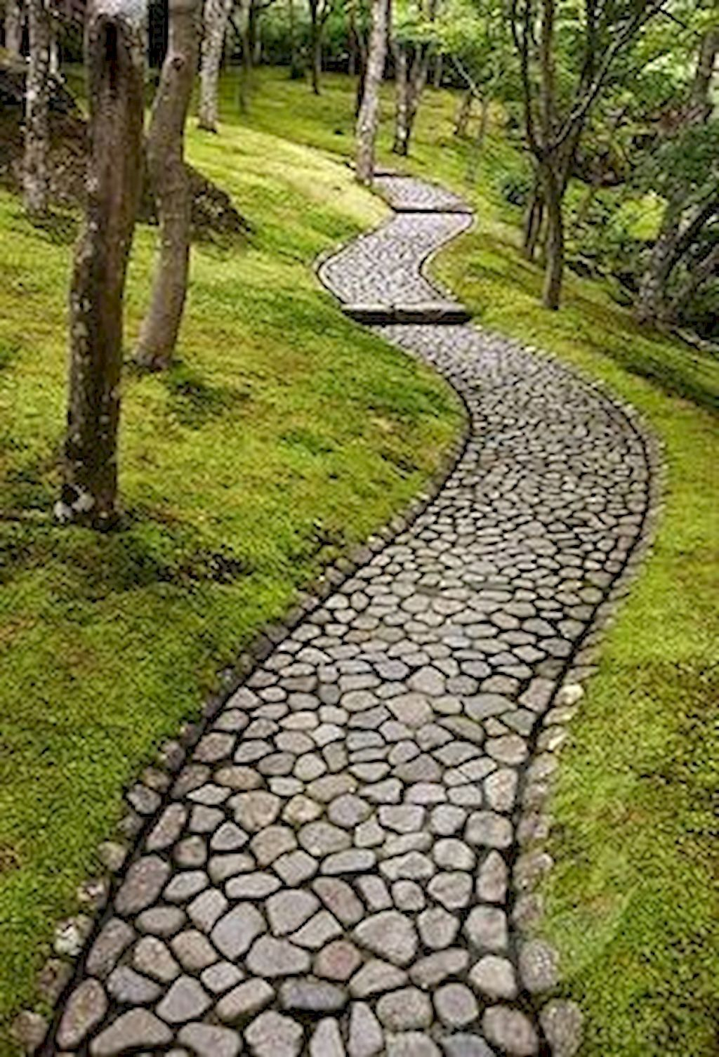 Classy Garden Path And Walkway Design And Remodel Ideas 24