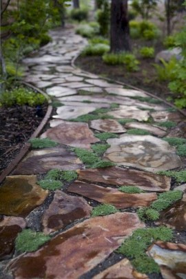 Classy Garden Path And Walkway Design And Remodel Ideas 27