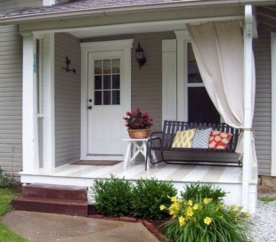 Cozy Small Porch Design Ideas To Try Right Now 24