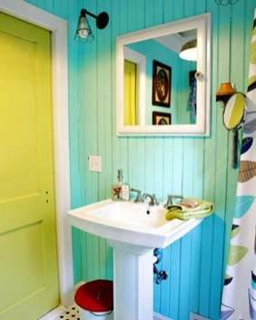 Inspiring Bathroom Decor Ideas With Turquoise Color To Consider 23