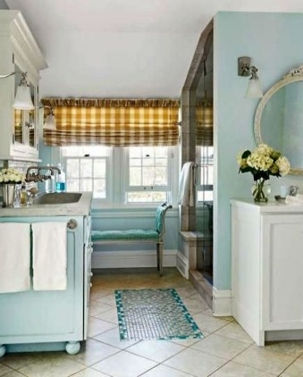 Inspiring Bathroom Decor Ideas With Turquoise Color To Consider 44