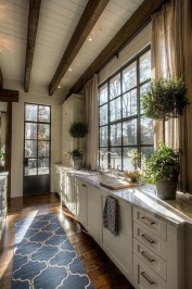 Magnificient Kitchen Cabinet Curtain Ideas To Look Stunning 22