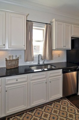 Magnificient Kitchen Cabinet Curtain Ideas To Look Stunning 25