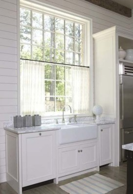Magnificient Kitchen Cabinet Curtain Ideas To Look Stunning 27