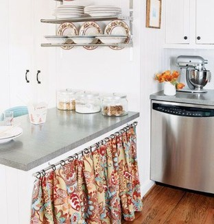 Magnificient Kitchen Cabinet Curtain Ideas To Look Stunning 37