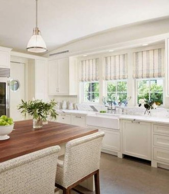 Magnificient Kitchen Cabinet Curtain Ideas To Look Stunning 43