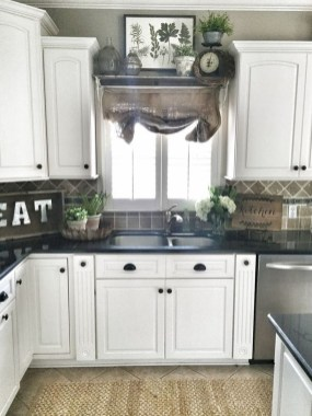 Magnificient Kitchen Cabinet Curtain Ideas To Look Stunning 44