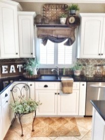 Magnificient Kitchen Cabinet Curtain Ideas To Look Stunning 48