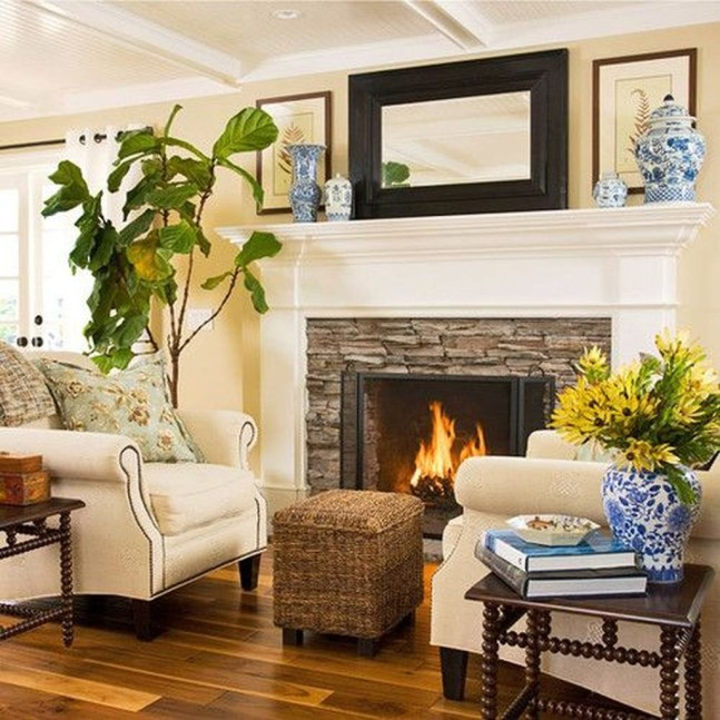 Pretty Seating Area Ideas With Outside Fireplace 01