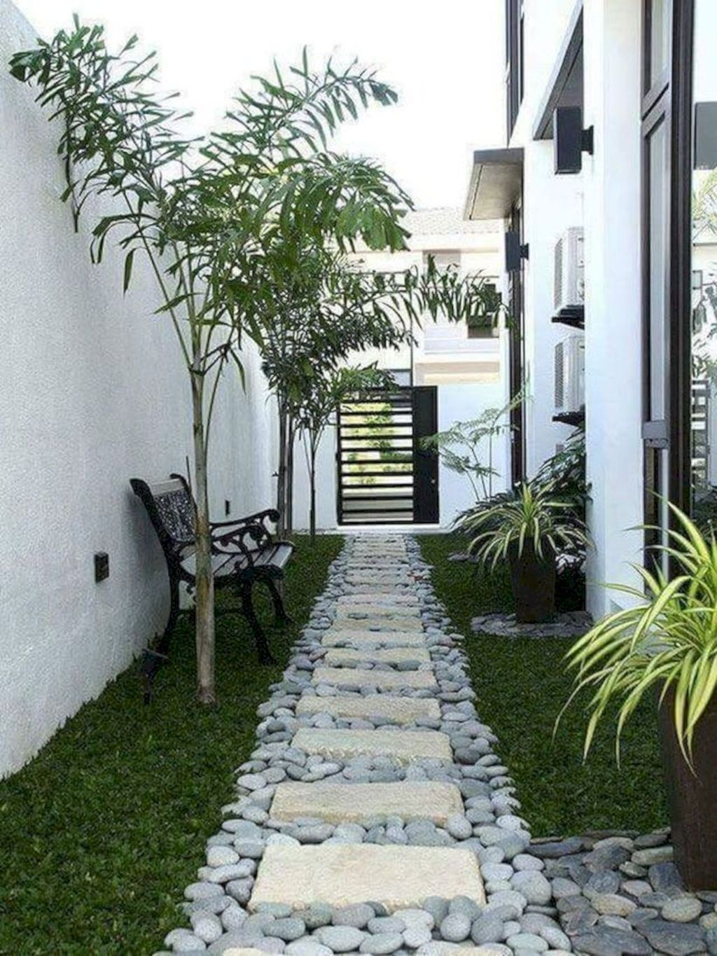 Rustic Side Yard Garden Design And Remodel Ideas 01