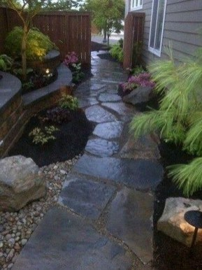 Rustic Side Yard Garden Design And Remodel Ideas 06