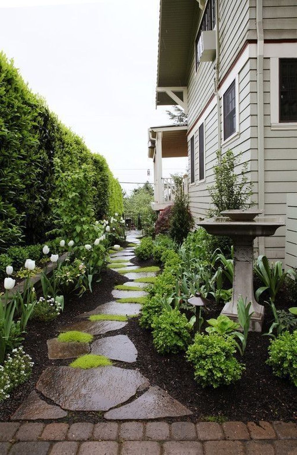 Rustic Side Yard Garden Design And Remodel Ideas 20