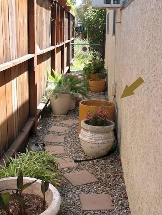 Rustic Side Yard Garden Design And Remodel Ideas 46