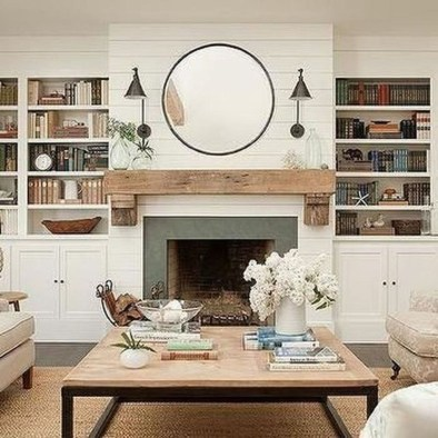 Admiring Fireplace Décor Ideas For Cottage To Try 17