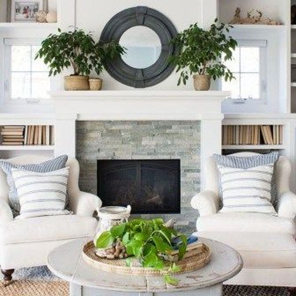 Admiring Fireplace Décor Ideas For Cottage To Try 20