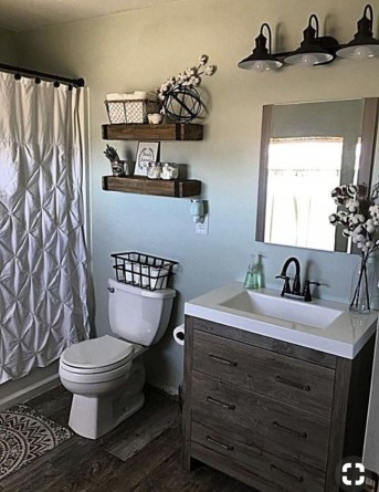 Adorable Farmhouse Bathroom Decor Ideas That Looks Cool 07
