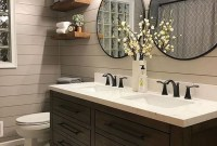 Adorable Farmhouse Bathroom Decor Ideas That Looks Cool 13