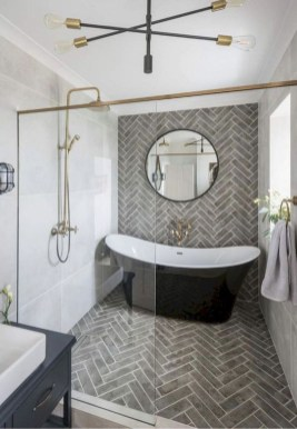 Astonishing Farmhouse Shower Tile Decor Ideas To Try 07
