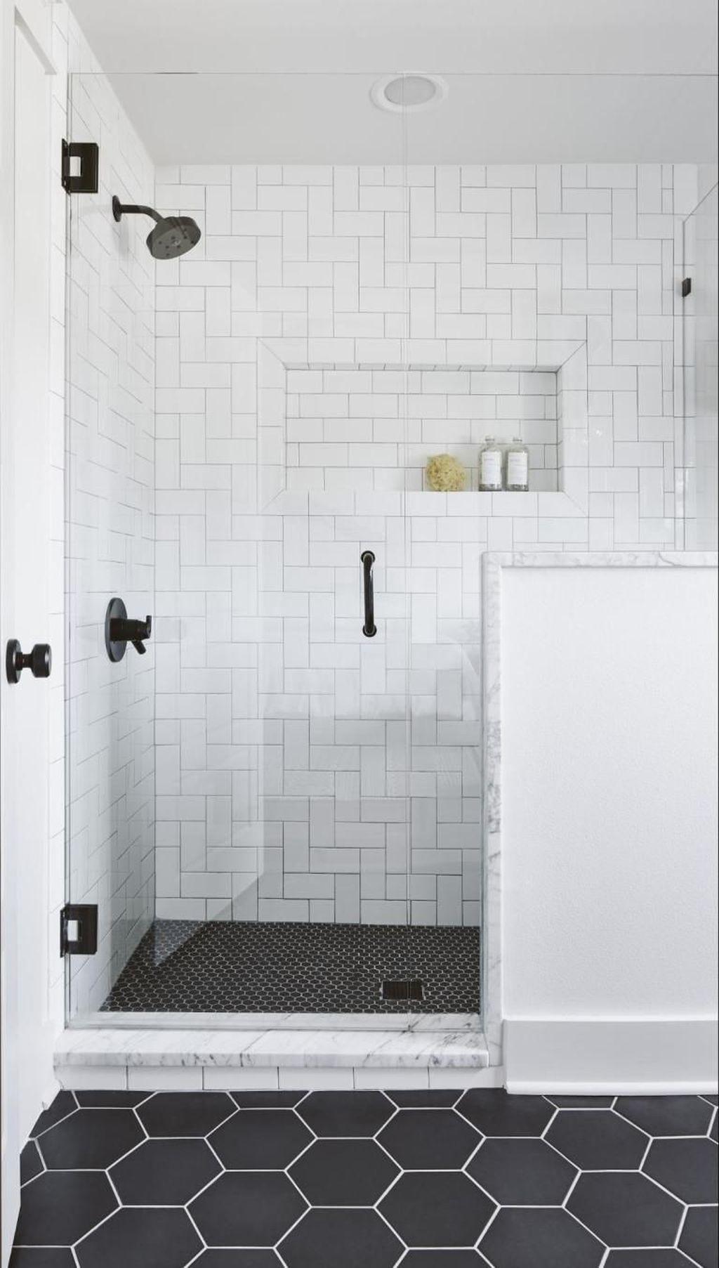 Astonishing Farmhouse Shower Tile Decor Ideas To Try 10