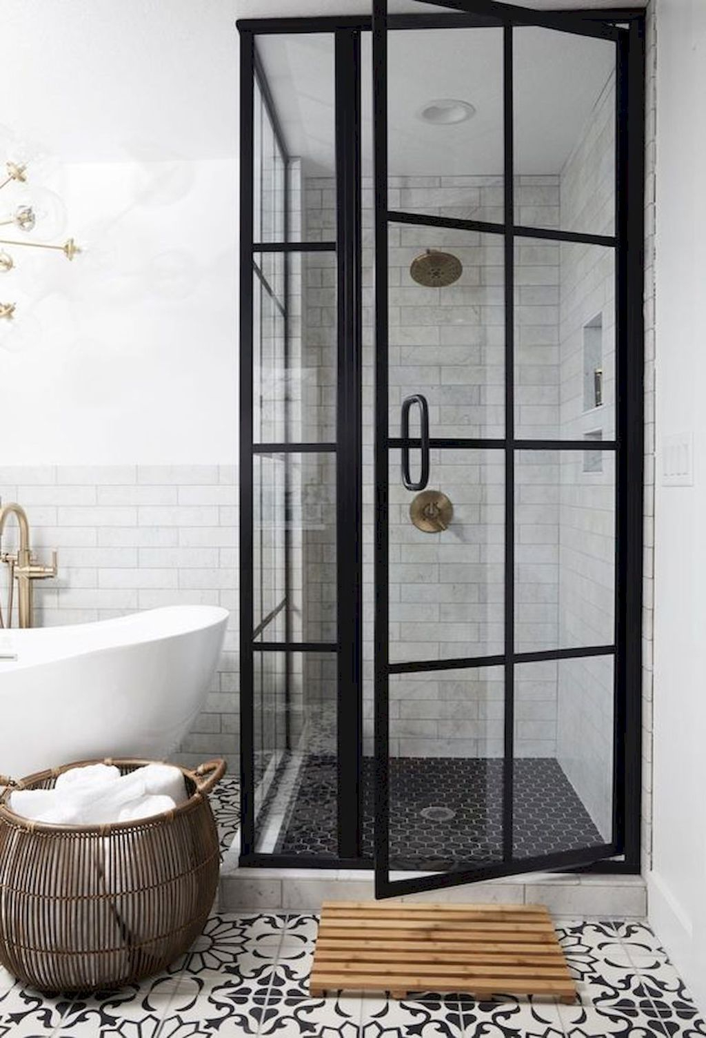 Astonishing Farmhouse Shower Tile Decor Ideas To Try 15