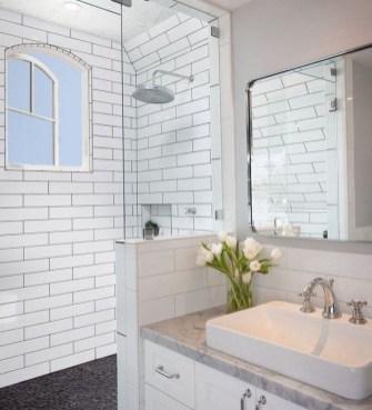 Astonishing Farmhouse Shower Tile Decor Ideas To Try 26